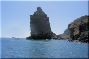 Pinnacle Rock from the Water, Bartolom� Island